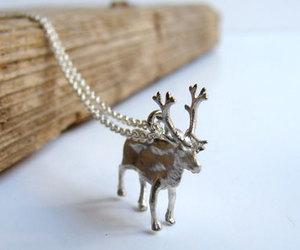 etsy, rudolf, and animal necklace image