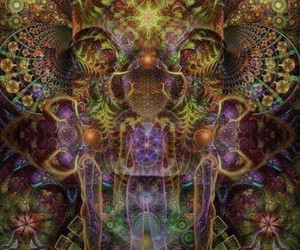 art, psychedelic, and ayahuasca image
