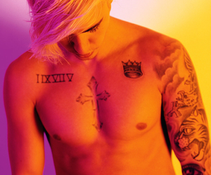 justin, tattoo, and bieber image