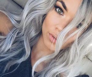 grey, beauty, and eyes image