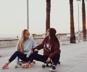 friends, girl, and hipster image