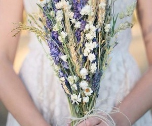 love, flowers, and wedding image