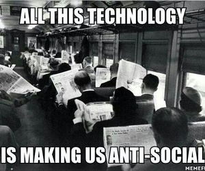 technology, social, and text image