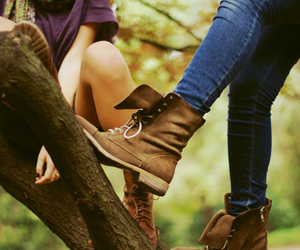 shoes, boots, and tree image