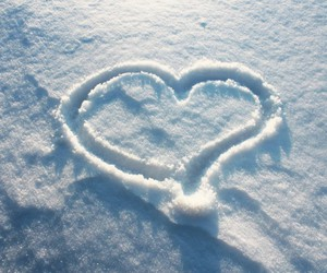 heart, fashione, and snow image