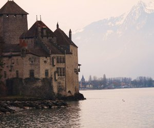 chateau, europe, and lake image