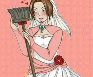 anime, broom, and manga image