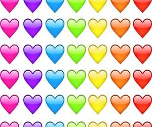 hearts, emoji, and wallpaper image