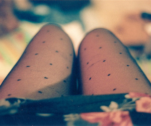 legs, floral, and tights image