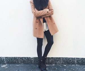 black, clothes, and coat image