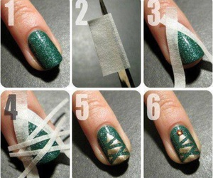 nails, green, and diy image