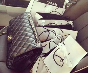 chanel, bag, and shopping image