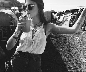 black and white, cool, and girl image