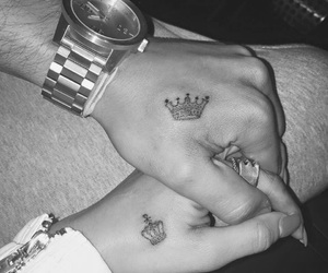 love, couple, and tattoo image
