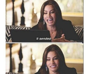 funny, modern family, and text image