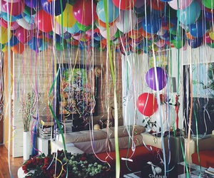 balloons, birthday, and party image