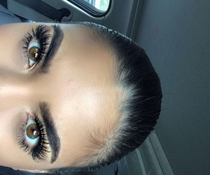 eyebrows, girl, and eyes image