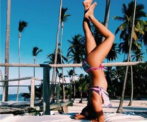 beach, bikini, and love image