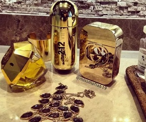 gold, golden, and gucci image