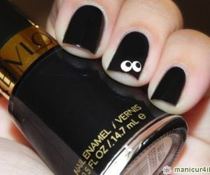 nails, black, and eyes image