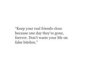 quote, friends, and false image