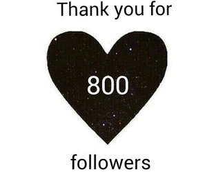 followers, thank you, and 800 image