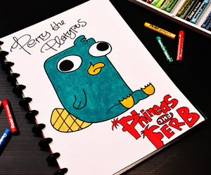 phineas and ferb, perry, and perry the platypus image