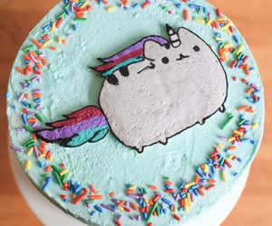 unicorn, cake, and cat image