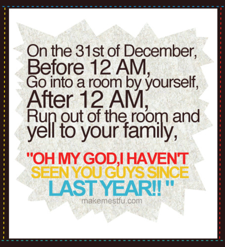 family, funny, hehe, humor, new year, prank - inspiring picture on ...