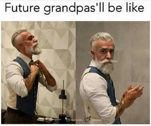 grandpa, funny, and future image