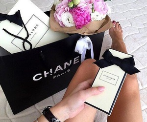 chanel, flowers, and girl image