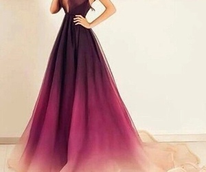 dress, pink, and purple image