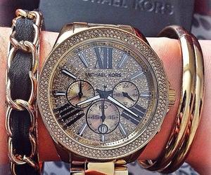bracelets, fashion, and gold image