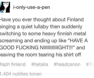hetalia, headcanon, and aph finland image
