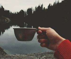 nature, lake, and cup image