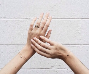 rings, hands, and gold image