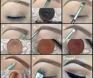 beauty and eye make-up image