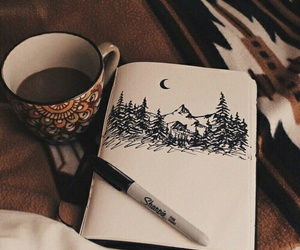 coffee, drawing, and art image