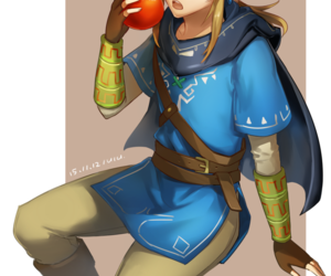 link, anime, and apple image