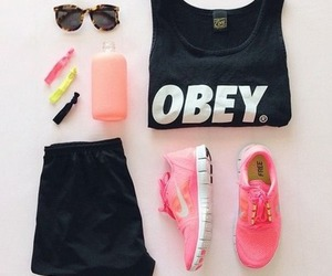 fashion, outfit, and obey image