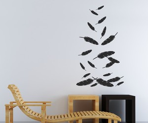 feathers, wall decal, and pretty image