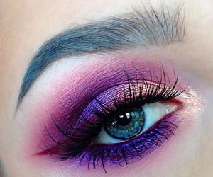 makeup, purple, and girl image