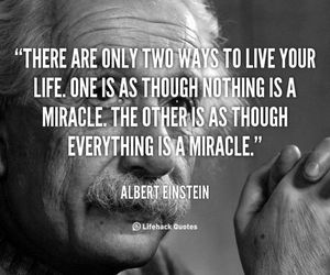 Albert Einstein, life, and quote image