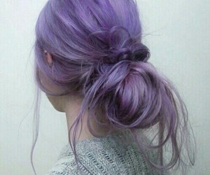 hair and puple image