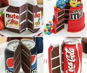 Pepsi, cake, and nutella image