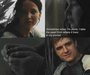 quotes, sad, and hunger games image