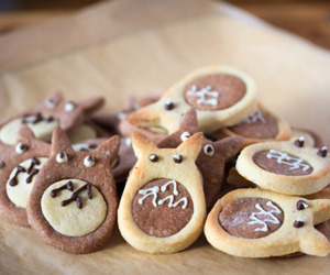 Cookies, food, and totoro image