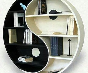book, bookshelf, and black image