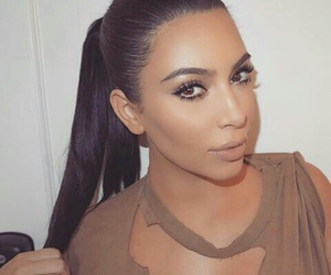 kim kardashian, beauty, and makeup image