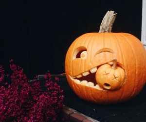 carving, Halloween, and pumpkin image